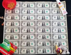 $1 bill uncut sheet