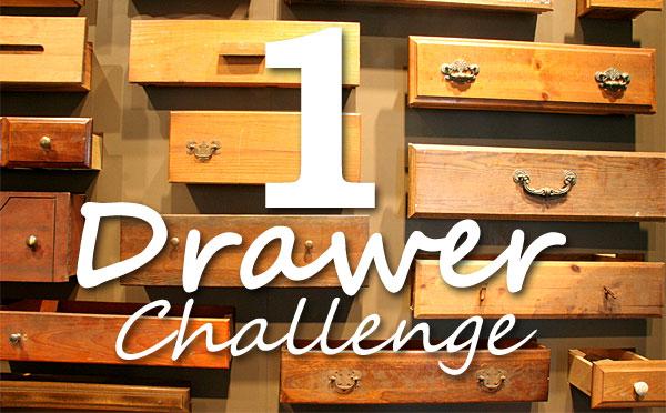 1 drawer declutter challenge