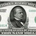 $1,000 US dollar bill