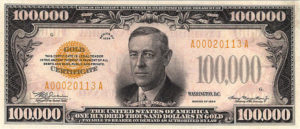 100,000 gold note bill
