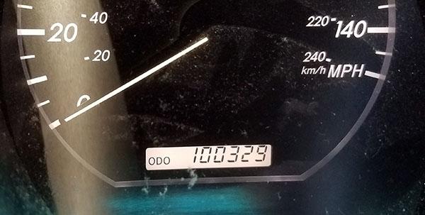 100k miles odometer