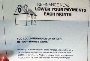 125% mortgage refinancing