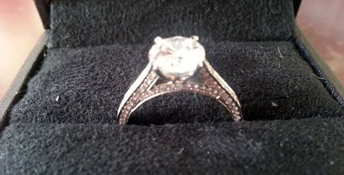 12k engagement ring