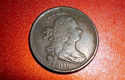 1806 half cent