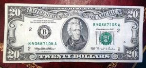 older $20 dollar bill