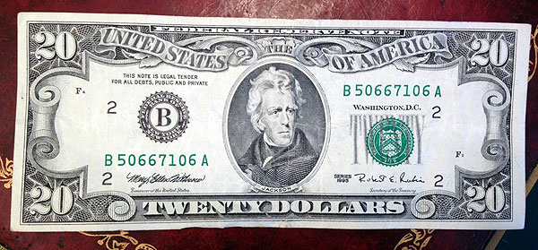 Older version $20 bill