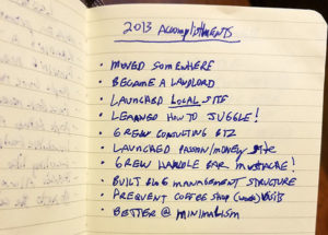 2013 accomplishments list