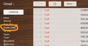 240 email drafts