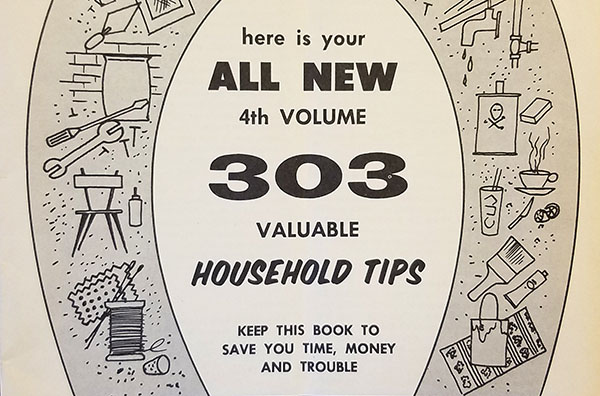 303 valuable household tips pamphlet