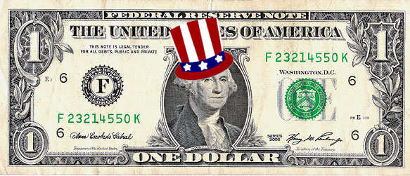 4th of July dollar bill