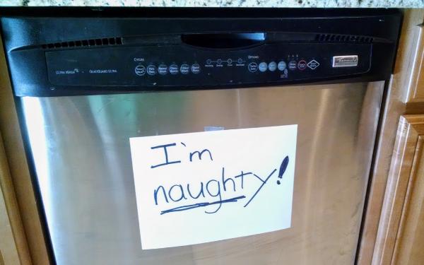 naughty dishwasher