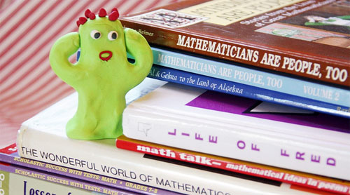 afraid of math monster