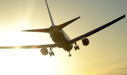 airplane silhouette sky
