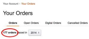 amazon orders 2014