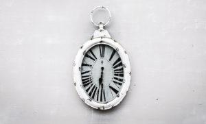 antique white clock