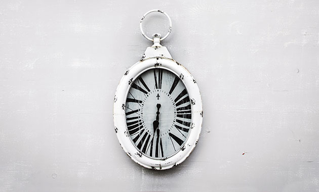antique white clock