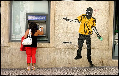 ATM stickup - fake