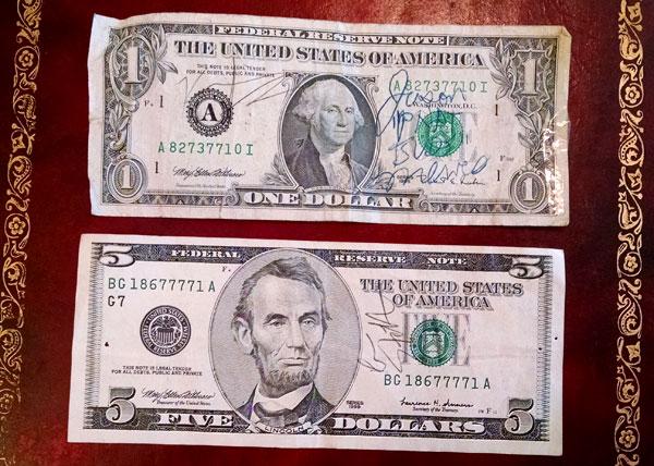 autographed bills