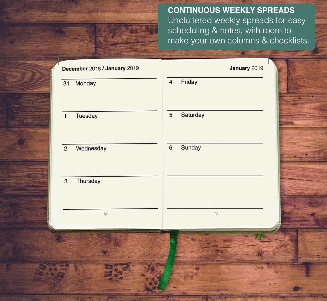 avid investor planner weekly spread