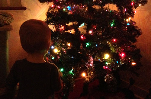 baby christmas tree lights