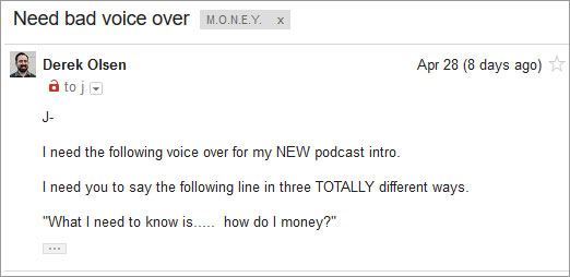 bad voice over email