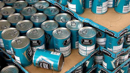 baked beanz cans