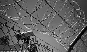 barbed wire jail