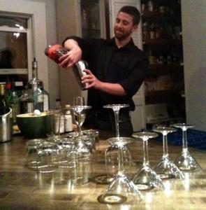 bartending in action