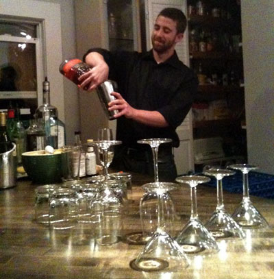 bartending in action