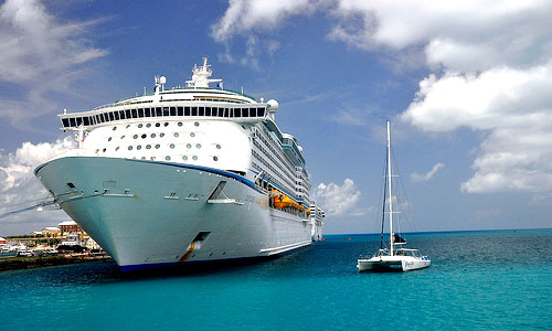 beautiful cruise ship & water