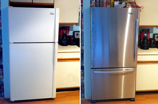 before after fridge upgrade