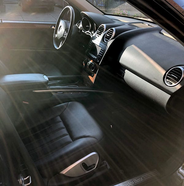 benz ml320 inside front