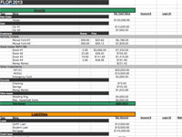 Financial Life on One Page free budget templates