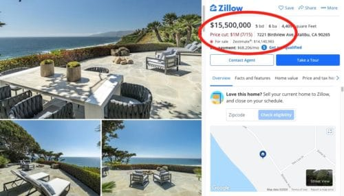 $15 million mansion in malibu