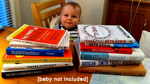 business books and baby