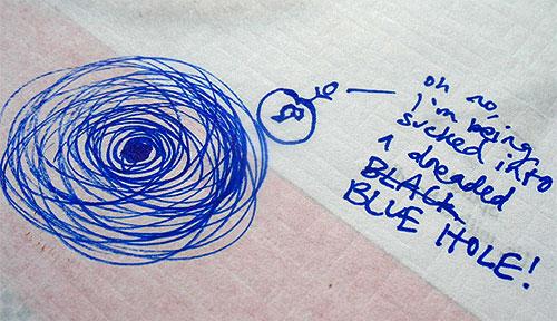 black hole doodle