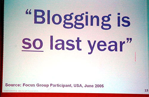 blogging is so last year