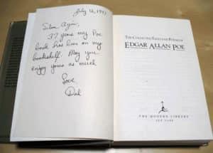 book inscription poe
