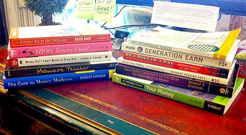 box of personal finance books 2