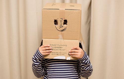 box on kids head