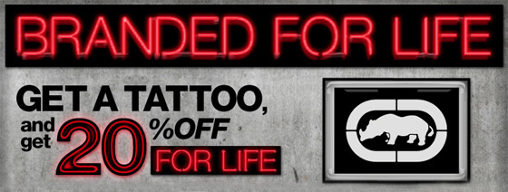 get ecko tattoo - save 20%