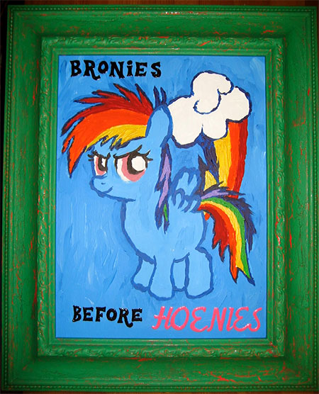 bronies before hoenies framed
