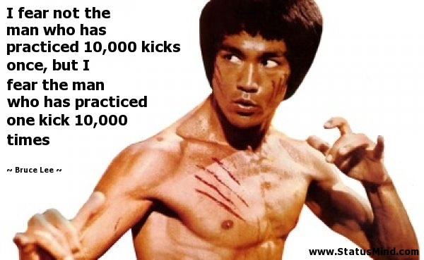 bruce lee quote kicks
