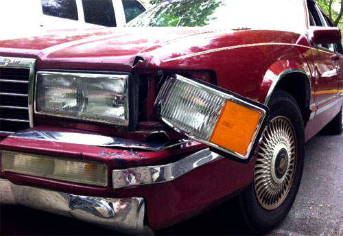 caddy crash
