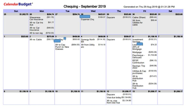 calendarbudget calendar printout