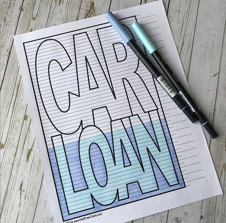 car loan debt free chart