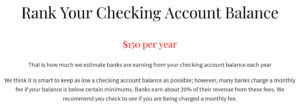 checking account balance ranking