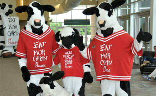 chick-fil-a cow mascots
