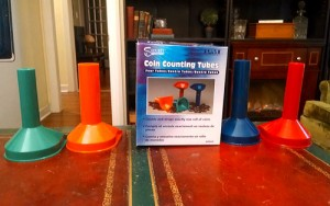 coin counting tubes