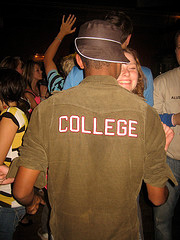 college shirt backwards